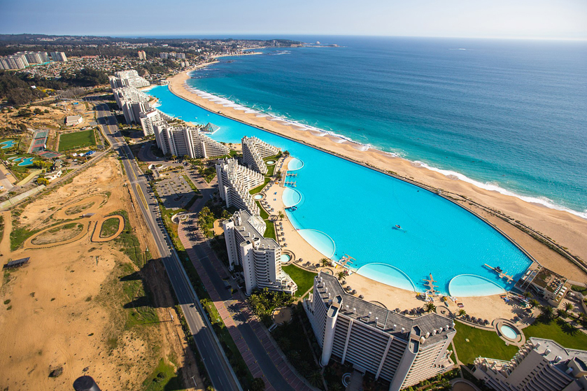 World's largest outdoor pool: San Alfonso del Mar Resort