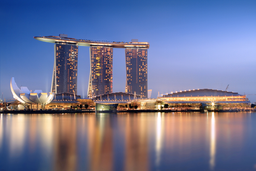 Above all-star: Marina Bay Sands Hotel, Singapore