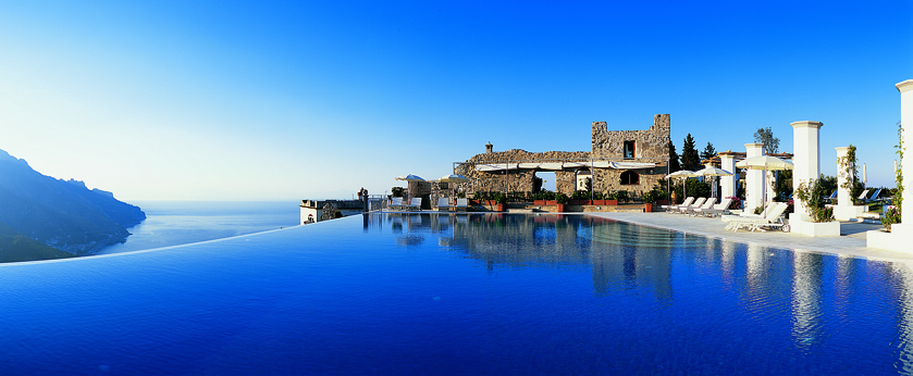 Infinity pool on cliff: Hotel Caruso, Amalfi Coast, Italy
