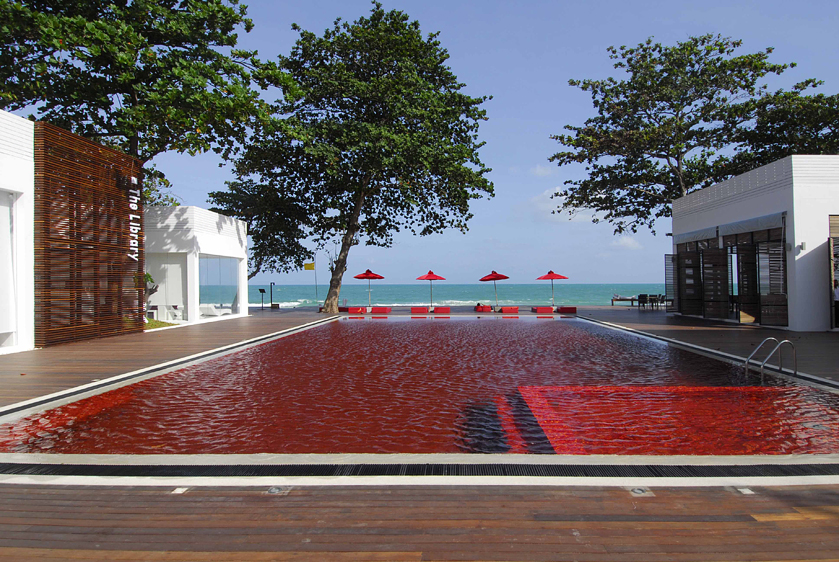 Blood red pool: The Library, Koh Samui, Thailand