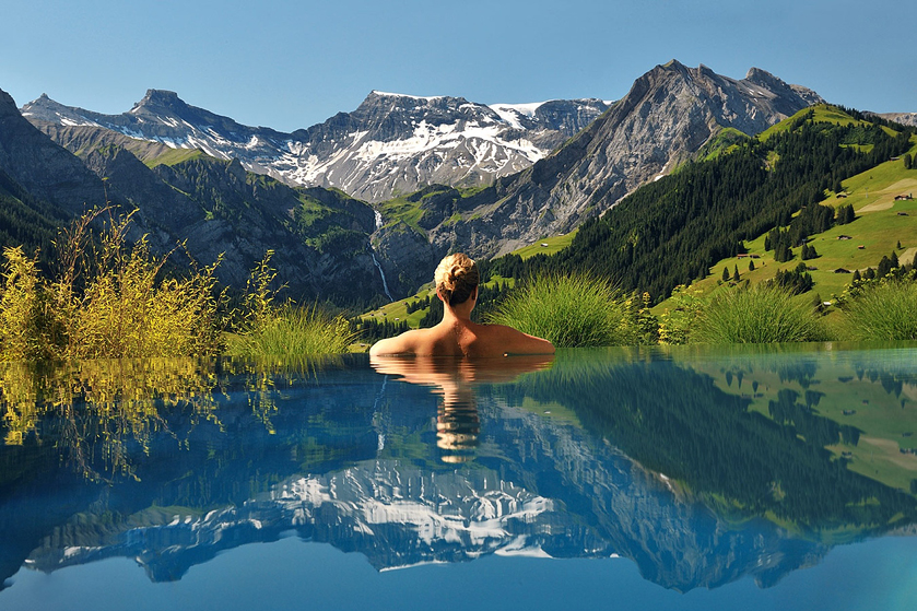 Heated pool with a stunning view: The Cambrian, Switzerland