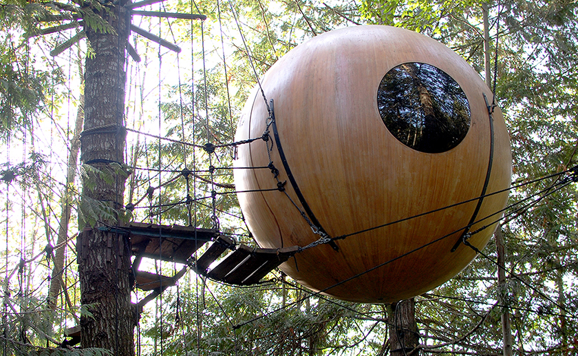 Free Spirit Spheres Vancouver Island review Eryn