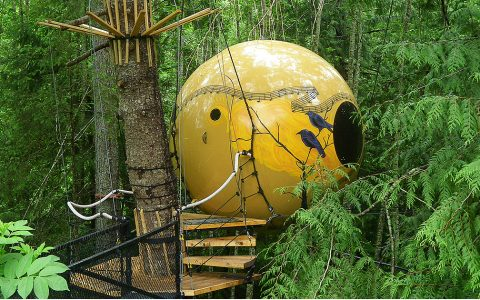 Free Spirit Spheres Hotel – Floating In A Forest